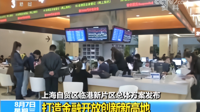 上海自贸区临港新片区总体方案发布 打造金融开放创新新高地
