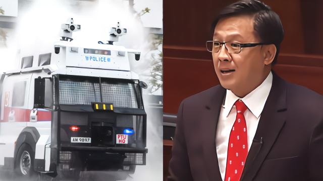 香港议员全程高能回怼反对派:论水炮车的正确打开方式