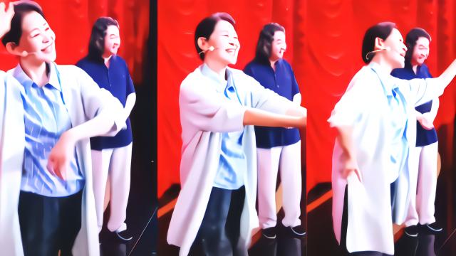 倪萍老师跳女团舞,优雅知性尽显反差萌,表情动作都十分到位
