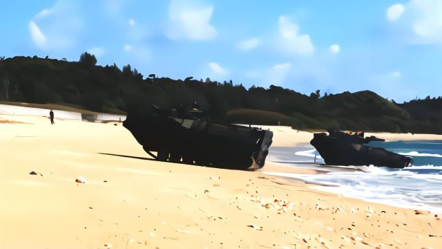 """美国这款战车堪称""""水陆两栖""""世界第一?"""