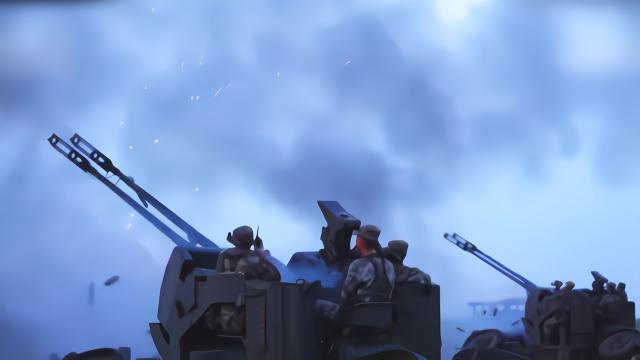 """""""敌机""""来袭!解放军数门高射炮集火射击 堪比""""暴雨梨花针"""""""