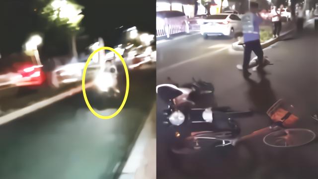 广东汕头摩托车拒检逃逸被辅警用单车逼停 官方连发通报称将追责