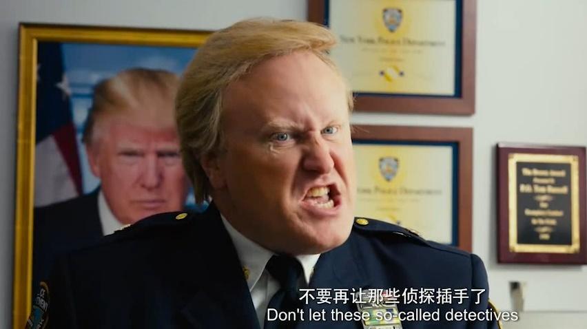 唐人街探案这演员在哪找的,大叔撞脸美国总统,这背景太喜庆了