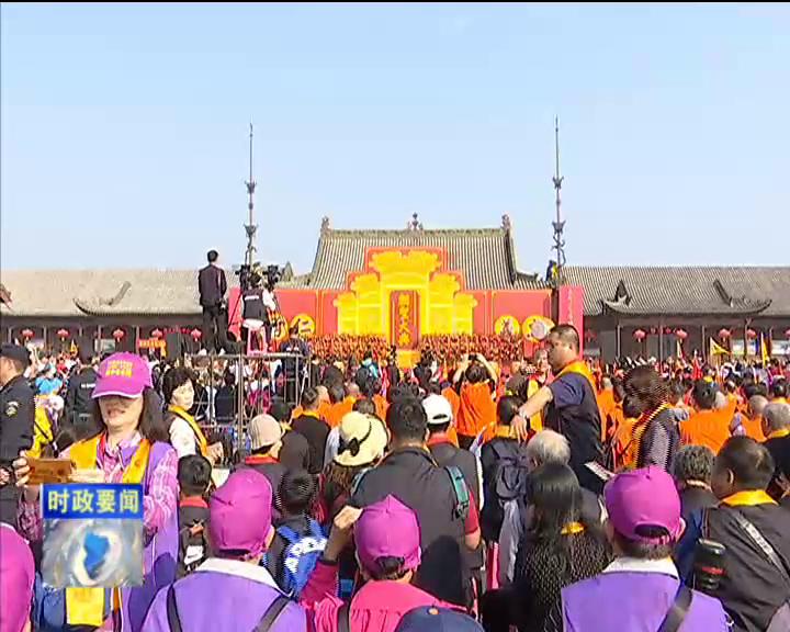 张继钢带领中华文化促进会考察团在盐湖区考察