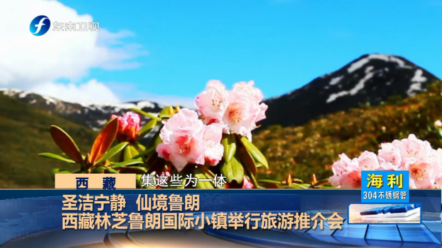 西藏林芝鲁朗国际小镇举行旅游推介会,吸引各地游客前来观赏