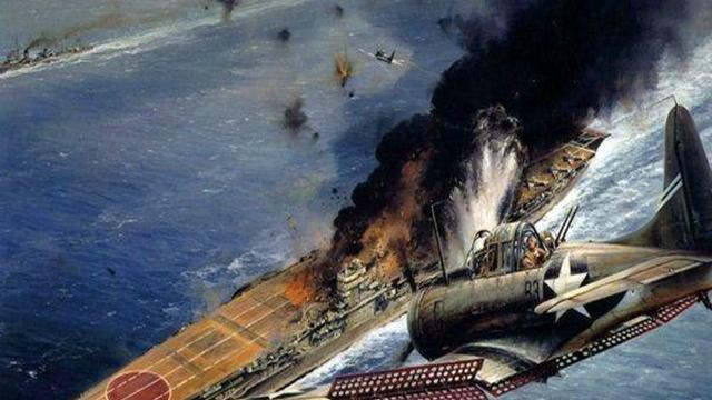 决战中途岛,二战期间最大规模海战,鼎盛时期日军就此跌落