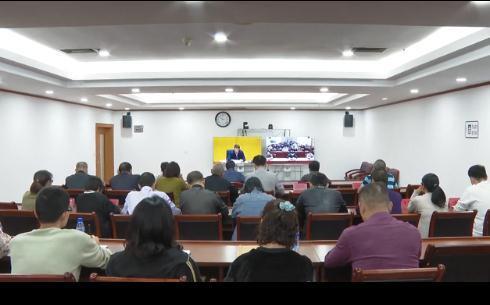 我区组织收听收看全国、全省冬春农田水利基本建设电视电话会议
