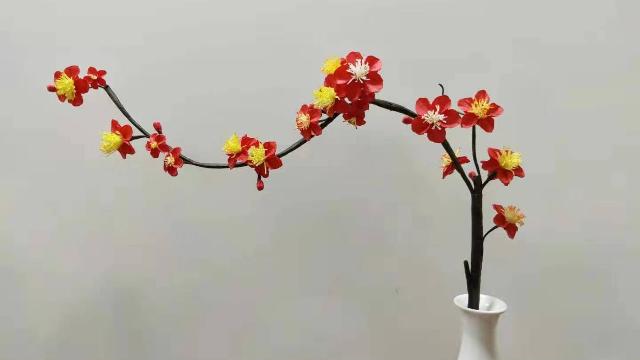 手工折纸花朵梅花 子龙花卉折纸