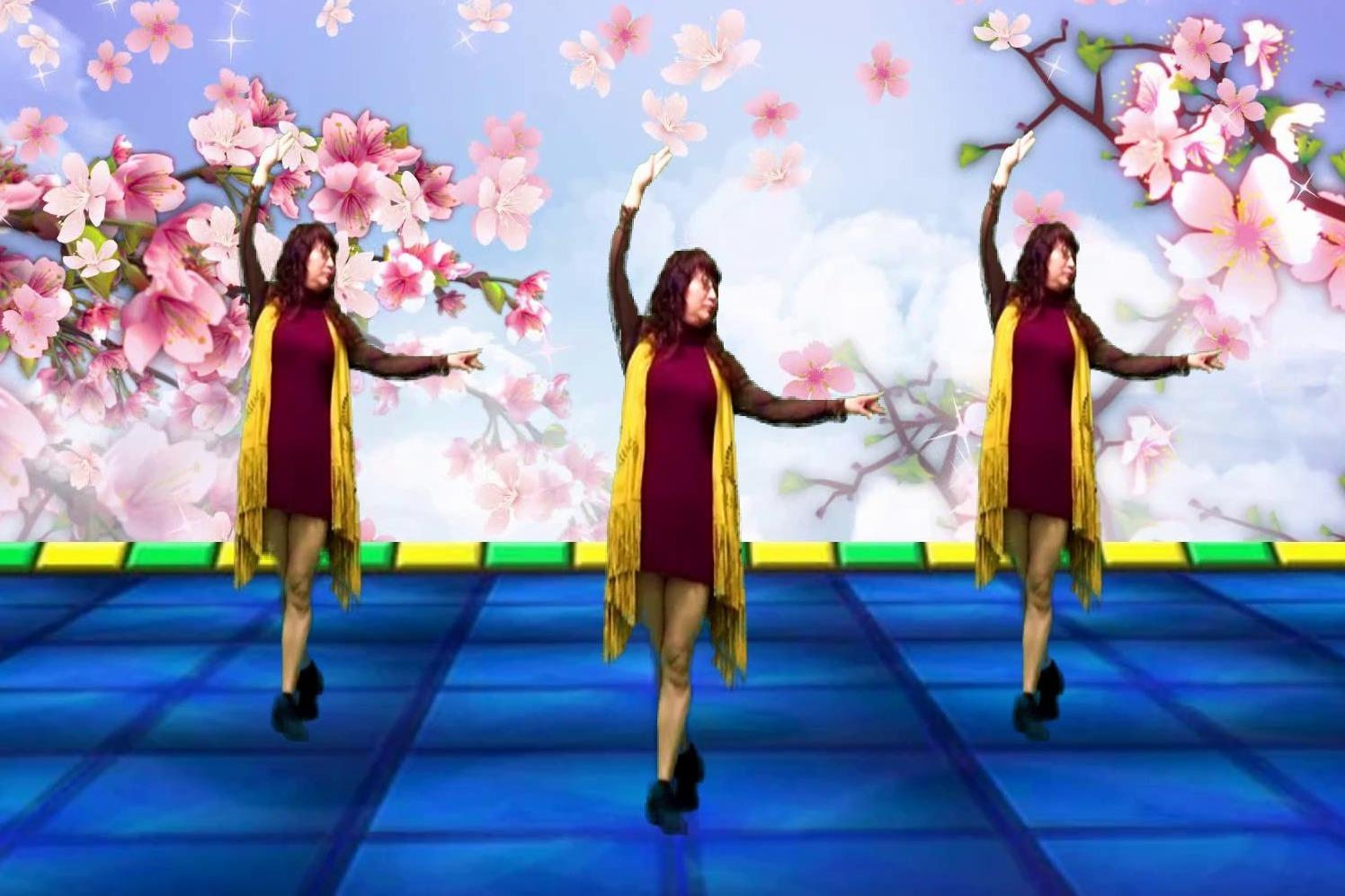 经典老歌广场舞《独角戏》,优雅流畅三步华尔兹,经典旋律真好听