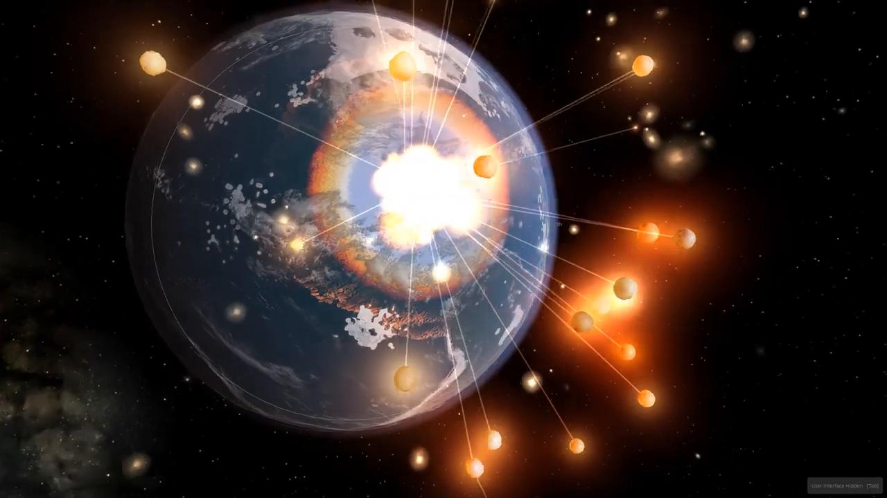 壮观!假如有很多小行星撞击地球,那会如何?