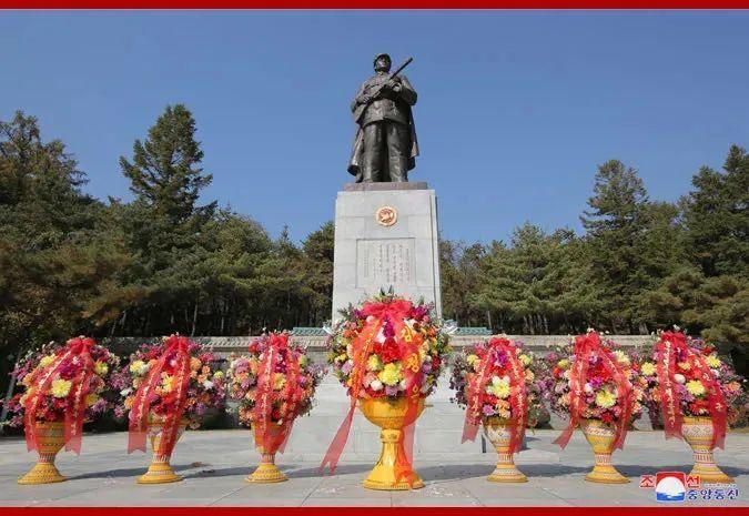 中国人民志愿军烈士陵园。图片来源:朝中社