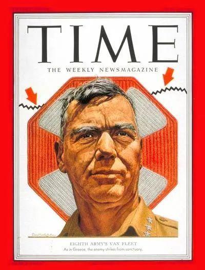 朝鲜战场上被时代周刊报道的范佛里特。