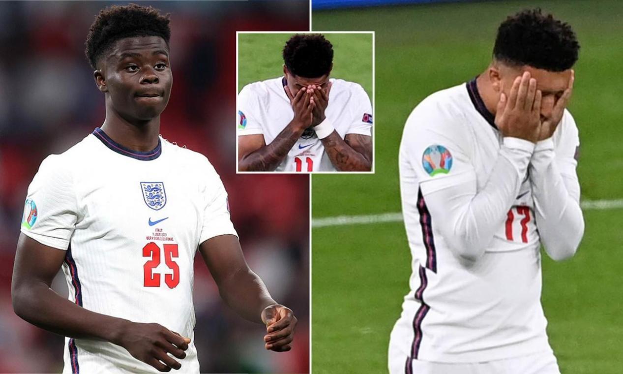 英格兰欧洲杯决赛遗憾点球落败 球迷愤怒的心情久久难以平复