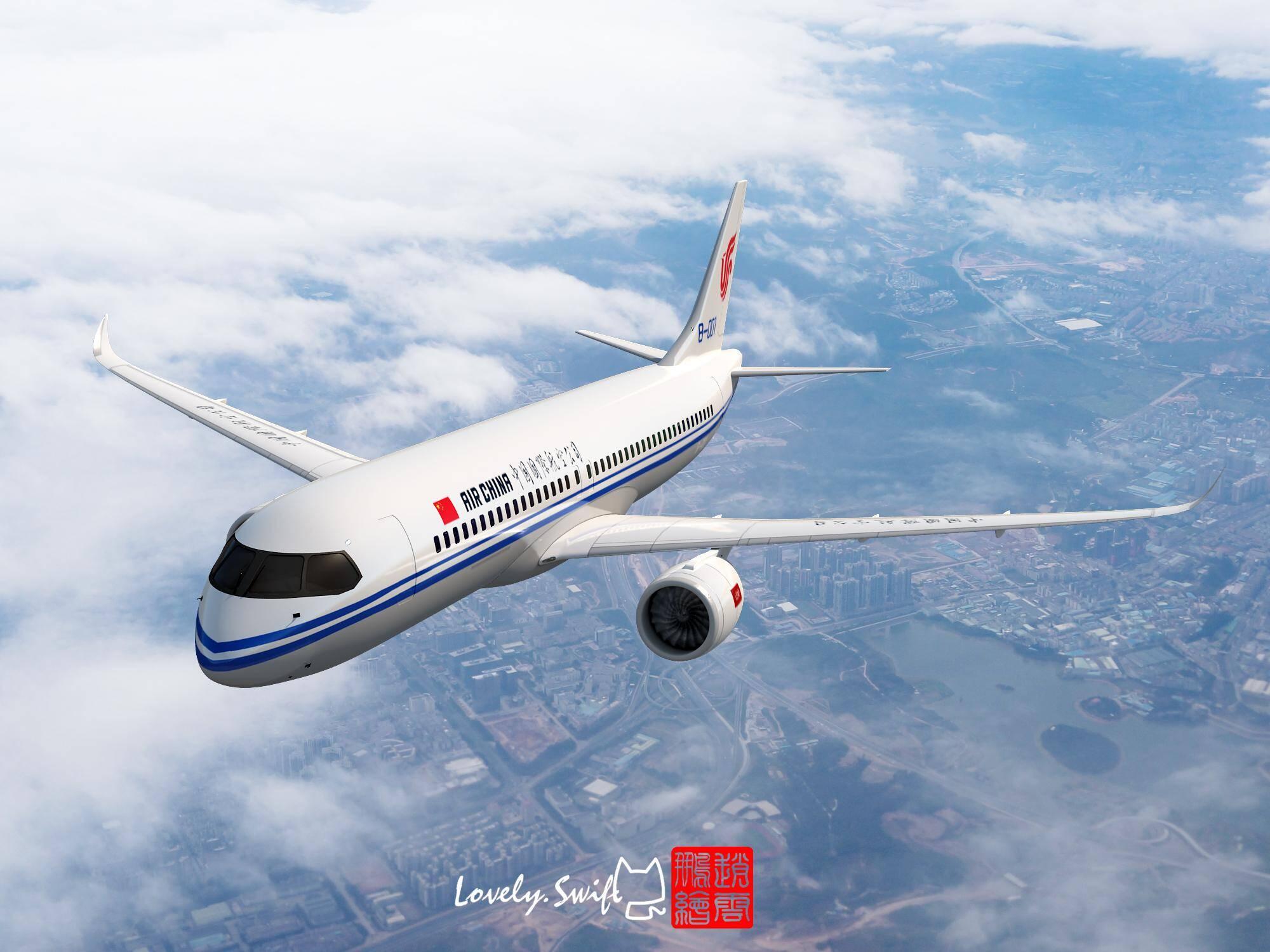 国产大飞机c919 各航空公司涂装cg_手机凤凰网