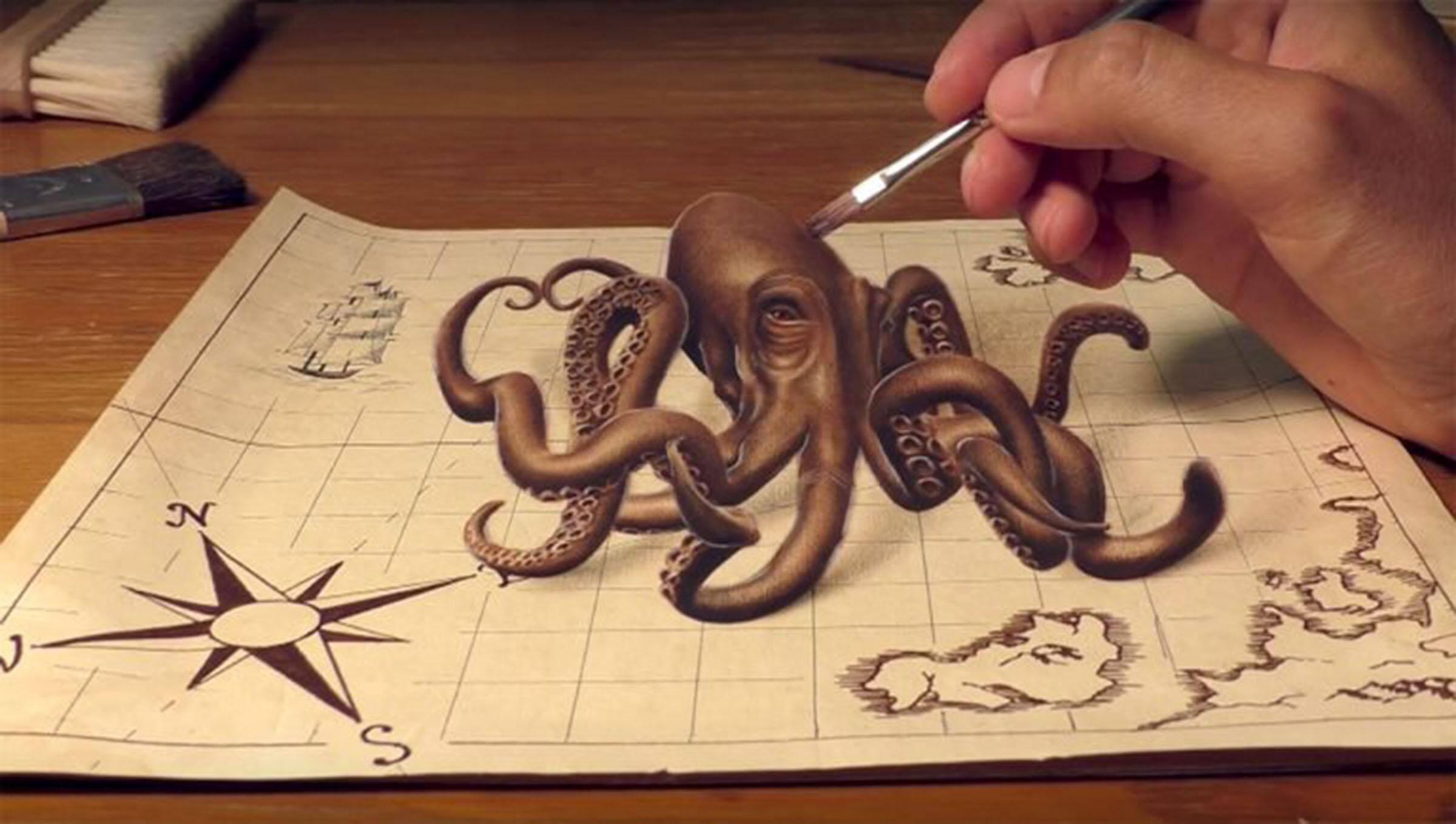 这些手绘的3D立体画,比真实的还真