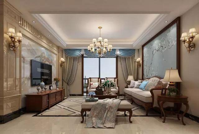 新中式风格客厅装修效果图 每一款都值得收藏 总有你