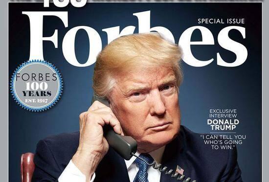 500万美元变1亿美元 特朗普曾谎报身家登上福布斯榜