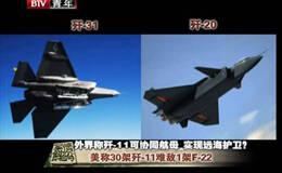 美称1架F-22可打爆30架歼-11 大校称两招克制F-22