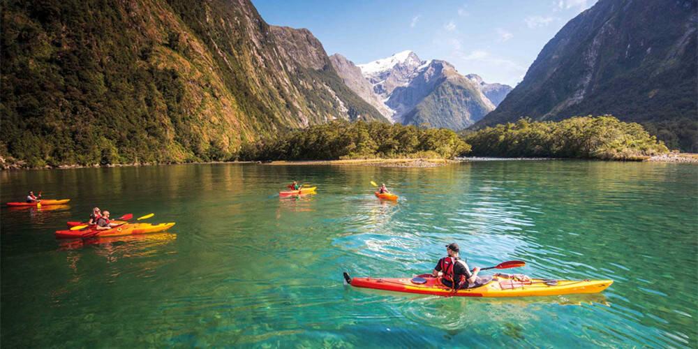 新西兰的峡湾
