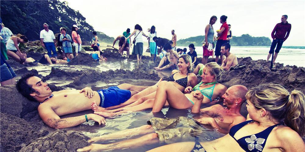 新西兰的海滩