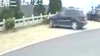黑色越野车突然开下护栏,监控拍下吓人一幕