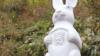 寺庙建兔子观音像 晚上眼睛发红光