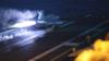 美国航母夜间起降舰载机 最近一直在中国周边转悠