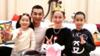 赵文卓为妻子庆40岁生日 一家四口长得太像了