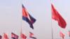 """""""胖妞""""满载国产疫苗运抵柬埔寨 现场中缅国旗迎风飘扬"""