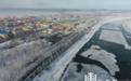 中俄界江黑龙江呼玛段江畔现唯美雾凇美景