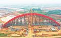 引江濟淮G3合銅黃高速特大橋拱肋順利合龍