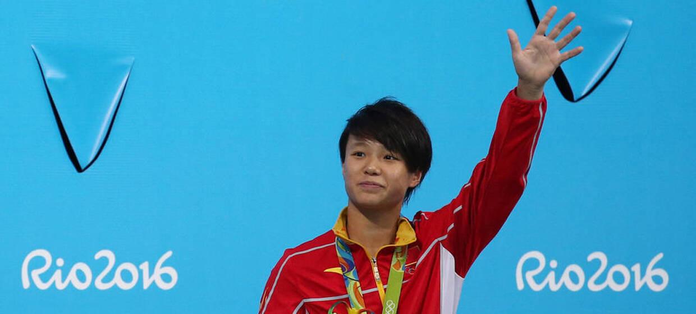 女子3米板施廷懋摘金 何姿获得银牌