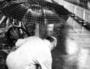 北京下大雨期间,北京的一位大爷徒手清理下水道