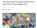 哈特:我希望永久转会离开曼城,而不是继续租借
