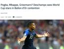 德尚:格里兹曼姆巴佩都是竞争金球奖竞争者