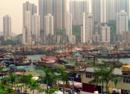 香港旧影1994年,景色优美的维多利亚港