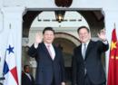 习近平和巴拿马总统巴雷拉共同参观巴拿马运河新船闸