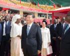 习近平同塞内加尔总统出席竞技摔跤场项目移交仪式