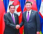 习近平向柬埔寨人民党主席洪森致贺电