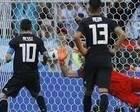 面对坚甲死守,法国的应变快一拍,梅西的点球软了点