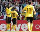 世界杯-卢卡库阿扎尔分别两球 比利时5-2突尼斯2连胜