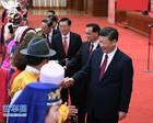 习近平等出席全国两会少数民族代表委员茶话会