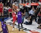 巴巴NBA名人赛惨遭麦迪盖帽:我只是想着别受伤