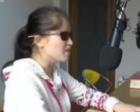 盲人女孩的播音梦:想用声音感染他人