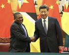 习近平同莫桑比克总统纽西举行会谈