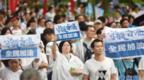 """香港元朗""""好好的日子突然变了"""" 市民只能大门紧闭"""