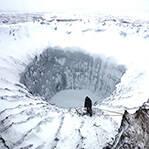 俄发现冰雪火山口
