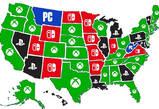 美国各州玩家最喜欢的游戏平台 Xbox一支独秀