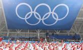 朝鲜拉拉队助威韩国队冰球赛