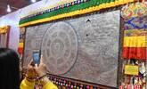 世界最大银绘唐卡亮相兰州